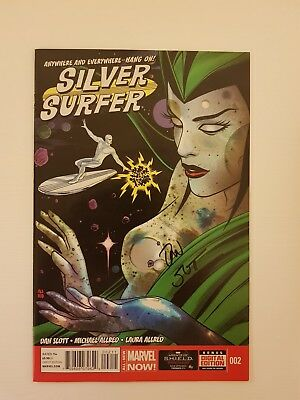 Silver Surfer #2 Marvel Comic NM Signed By Dan Slott