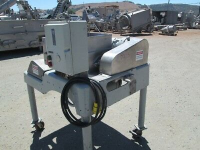 Fitzpatrick auger fed hammer mill Model DAO 6 S/S product contact