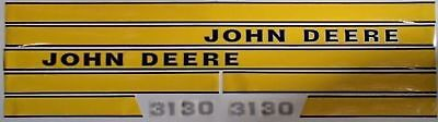 JD414 Hood Decal Set Made For John Deere Tractor 3130