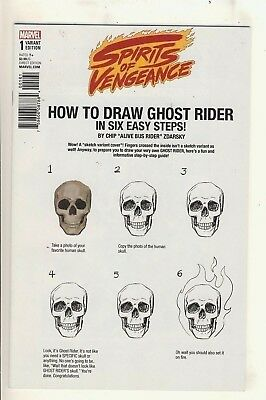 Spirits of Vengeance (2017) 1 NM Zdarsky How to Draw Variant Cover
