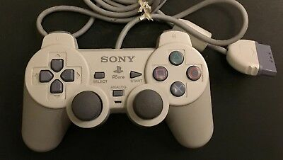 Official Sony Playstation 1 PS1 Analog Controller (SCPH-110) // White