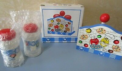 M & M's Salt & Pepper Shakers  W/stand New Original Box New