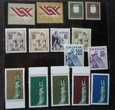 15 M. U. H. Stamps from Latvia
