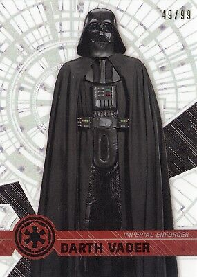 A153  2017 Star Wars High Tek Darth Vader /99