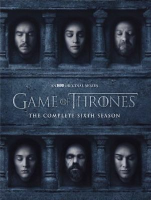 Game of Thrones: The Complete 6th Season 6(DVD) New, Free Shipping!