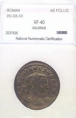 Excellent EMPEROR GALERIUS, 293-305AD, AE FOLLIS, ROMAN COIN, BRILLIANT, SHARP