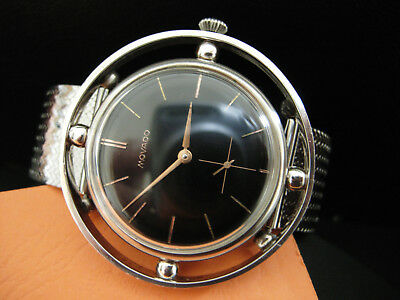 MOVADO - Art Deco 1940's - SILVER CASED - MANUAL WIND - One of a kind - RARE