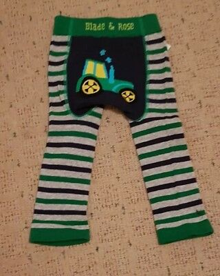 BLADE And ROSE boys Nwt Leggings 6-12 Months Tractor
