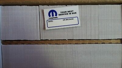 *WOW* 2000 !!! mopar static cling service reminders/oil change reminder stickers