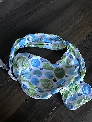 My Brest Friend 100% Cotton Nursing Pillow Original Slipcover Cover Green Blue