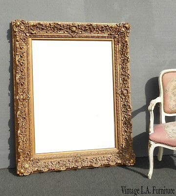 "Large 52"" Tall Picture Frame Vintage French Provincial Ornate Gold -Frame Only"