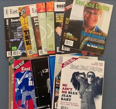 Lot of 21 Rare Elton John East End Lights Fanzines! Incl. issue #1 Autumn 1990