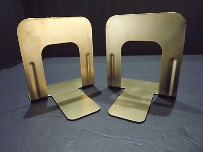 Gold Painted    Steel Bookends   A Pair,    FREE SHIppINg & Tracking