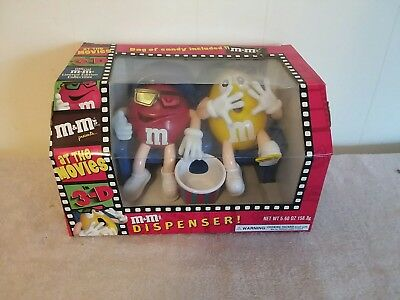 M & M Dispenser 3D  Red & Yellow Unused