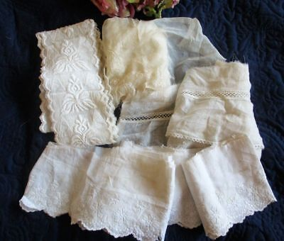 Antique/vintage Lot Of Dress Edgings~Trims~Lace~Silk~Embroidered~Repurpose