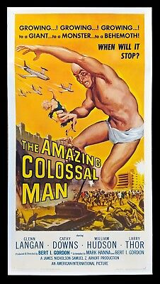 AMAZING COLOSSAL MAN ✯ CineMasterpieces HUGE HORROR MONSTER MOVIE POSTER 1957