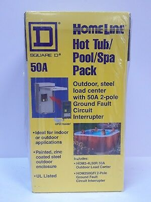 Spa Panel Hot Tub Pool 50 Amp 2-Space 4-Circuit Main Lug Load Center Protection