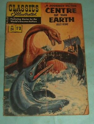 Classics Illustrated Comic # 24 (1960s) - A Journey To The Centre Of The Earth.