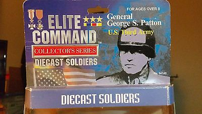 Blue Box Elite Command American General Patton w/3 Soldiers, Die-cast Metal-NIB