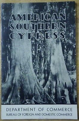 1939 American Southern Cypress U S Department of Commerce Booklet