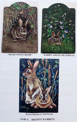 """Dorothy Whisenhunt tole painting pattern """"Brown Rabbits"""""""