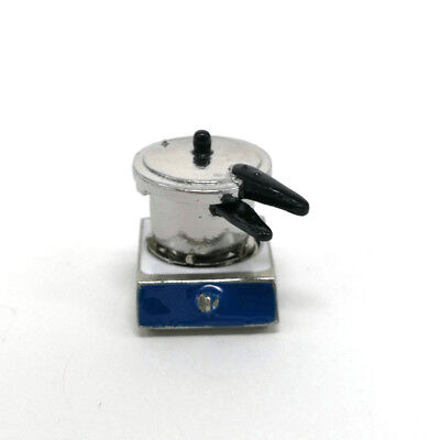 1x For Dolls House Miniature Alloy Single Gas Stove Cooking Tool 1:12 Scale Gift