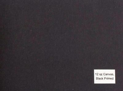 Luca Canvas Rolls - acrylic primed BLACK-10oz (84'') 2.12x20m  medium texture