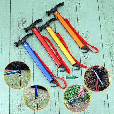Sundely Multifunction Camping Mallet Hammer for Tent Pegs Red Blue Gold Orange