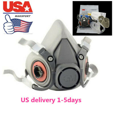 US masks sets half Face For 3M 6200 Gas Spray Painting Protection Respirator