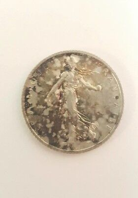 1918 France 1 Franc Silver (FREE SHIPPING)