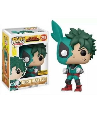 Funko Pop! My Hero Academia Deku (Battle) #252 Hot Topic New In Box In Hand