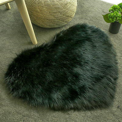 0A9F Home Fluffy Rugs Anti-Skid Multicolored Chair Wool Carpet