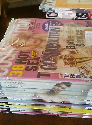 Lot of 15 issues Cosmo Cosmopolitan magazine complete year 2014 + extra 2015
