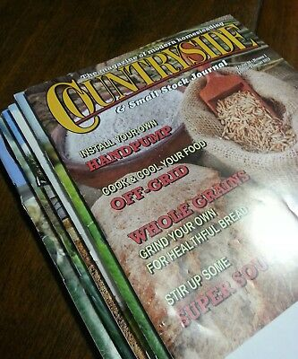Complete year of 2015 Countryside magazine 6 issues modern homesteading