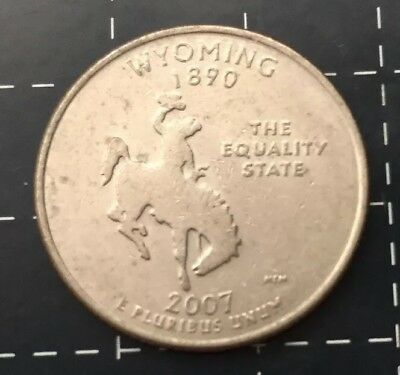 2007 United States Of America - U.s.a Quarter Dollar 25 Cent Coin -  Wyoming