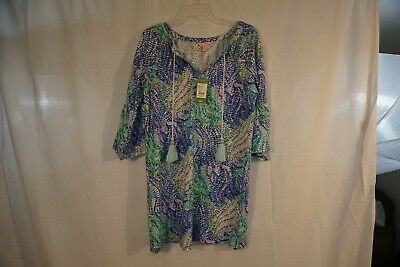 44cfb18cff9 LILLY PULITZER DEL Lago Tunic Dress Indigo Midnight Cove, Small, NWT ...
