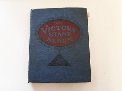 Old Victory Stamp Album : World Collection-  1075 Used Stamps.