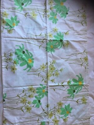 Vintage Retro SB Sheet Set. Mint Green Gold Floral Fine Cotton Material