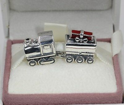 AUTHENTIC PANDORA Christmas Train Charm, Red Enamel, 797519EN27  #1490