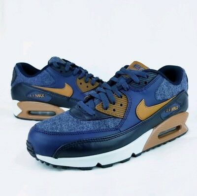 the latest 7d12b 9e4c6 ... promo code for mens nike air max 90 premium wool. thunder blue ale brown  700155