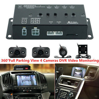 360° Full Parking View With 4 Cameras DVR &Video Monitoring For Car SUV Off-Road