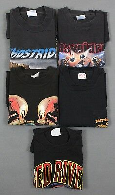Lot Of 5 Vintage 80's-90's Easyriders & Red River Biker T-Shirts Small-Medium