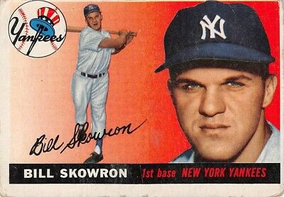 1955 Topps Bill Skowron #22 Good Condition	p2s-3904