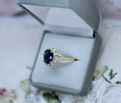 Antique Art Deco Jewellery Gold Ring Emerald White Sapphires Vintage Jewelry