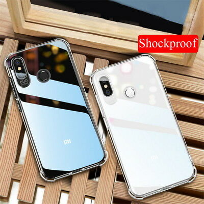 For Xiaomi Mi 8 Lite A2 A1 Note 6 Pro ShockProof Silicone Slim Clear Case Cover