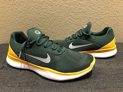 699a2512b381b9 Green Bay Packers Nike Free Trainer V7 NFL shoes Mens New AA1948 301 Size 13