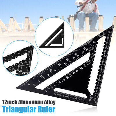 7/12inch Aluminum Speed Square Roofing Triangle Protractor Ruler Measuring Tools
