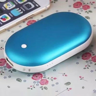 Hand Warmer Rechargeable Portable 5200mAh USB Power Bank Phone Charger LED