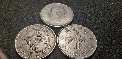 3 Silver Chinese Coins. Excellent Condition