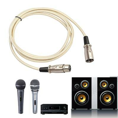 Microphone Lead Mic Cable Cord XLR Patch Lead Balanced Male to Female Plugs FG